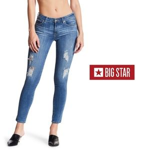 "BIG STAR ""Alex"" Distressed + Destroyed Skinny Jean"